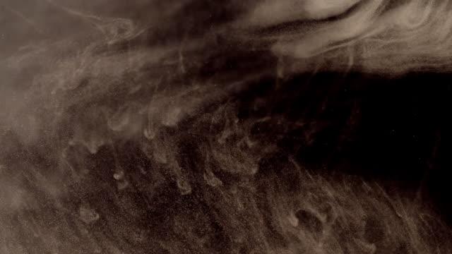 Drops of water soluble dye video