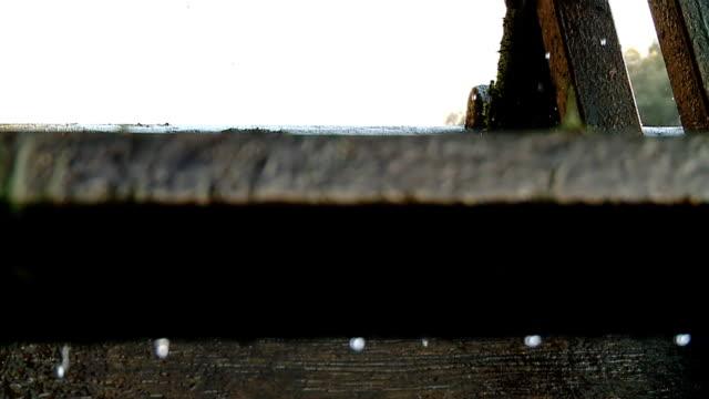 HD SLOW MOTION: Drops On A Water Wheel video