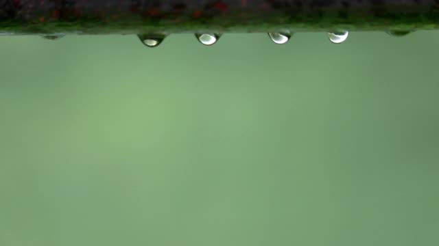 Drops on iron handrailing video