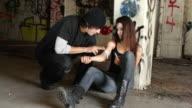 Drug User Shooting Heroin video