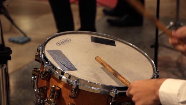 Drum performing video