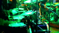 Drum set at concert. video