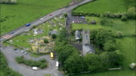 Drumcliffe Church  - Aerial View - Connaught, County Sligo, Ireland video