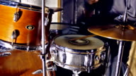 Drumer in close up video