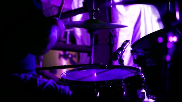 Drummer performing on stage video