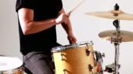 Drummer playing his drum kit video