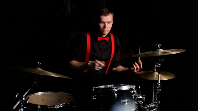 Drummer playing the drums video