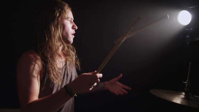 Drummer, slow motion video