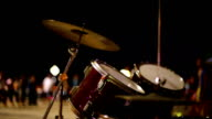 Drums in night video