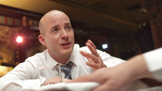 HD: Drunk Businessman At Bar Counter video