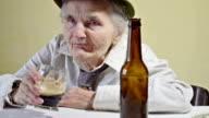 Drunk elderly woman video
