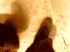 Drunk man walking clumsy video