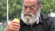 Drunk Old Man With Beard video