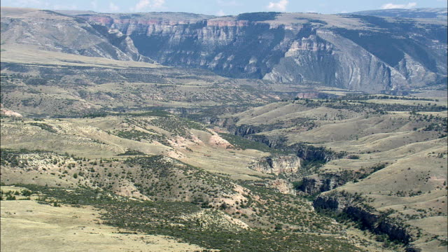 Dry Head And Spring Creeks  - Aerial View - Montana, Big Horn County, United States video