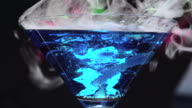 Dry ice in blue lagoon video