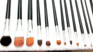 Dry make up brushes video