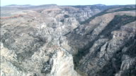 Dry Medicine Lodge Creek Canyon  - Aerial View - Wyoming, Big Horn County, United States video