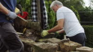 Dry Stone Wall Being Repaired video