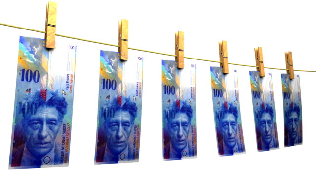 Drying Swiss Francs (Loop + Matte) video