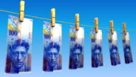 Drying Swiss Francs (Loop) video