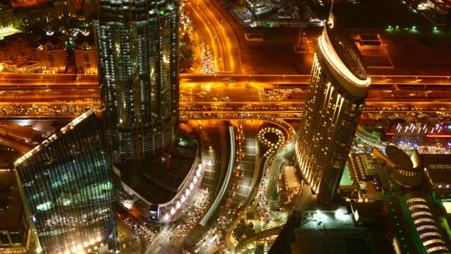 4K Dubai at night video