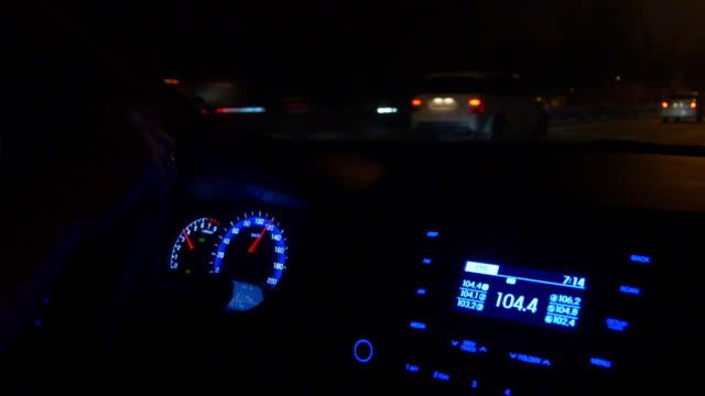 dubai city road trip night illuminated panel side panorama 4k united arab emirates video