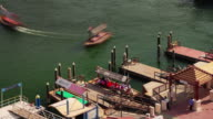 dubai day light deira creek tourist boat parking 4k time lapse united arab emirates video