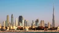 Dubai downtown. United Arab Emirates video