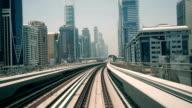 Dubai elevated Rail Metro System video