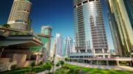 dubai marina jbr marina park front panorama 4k time lapse united arab emirates video