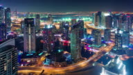 dubai marina roof top construction city panorama 4k time lapse united arab emirates video