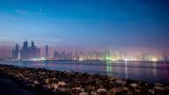 Dubai Marina skyline - Timelapse video