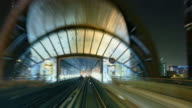 4K Dubai metro by night video