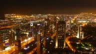 4K Dubai night lights video