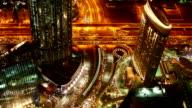 Dubai night timelapse video