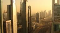 dubai sunset traffic video