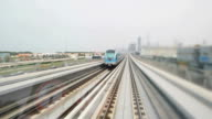 POV Dubai's metros passing by video