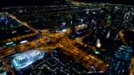 Dubai's road intersections at night video
