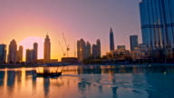 Dubai's world-beating buildings at sunset video