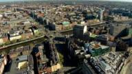 Dublin aerial video of city center video