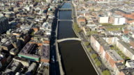 Dublin aerial video of river liffey video