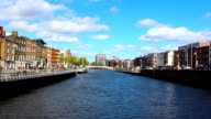 Dublin City and Liffey River, Time Lapse, Ireland video