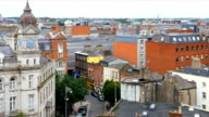 Dublin City Center And Johnson Place Viewed From Above video