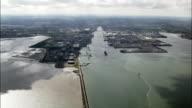 Dublin Harbour  - Aerial View - Leinster,  IE.L.07,  helicopter filming,  aerial video,  cineflex,  establishing shot,  Ireland video