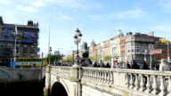 Dublin O'Connell Bridge from 3 different angles video