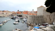 Dubrovnik old town cityscape video