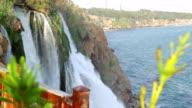 Duden waterfall in Turkey video