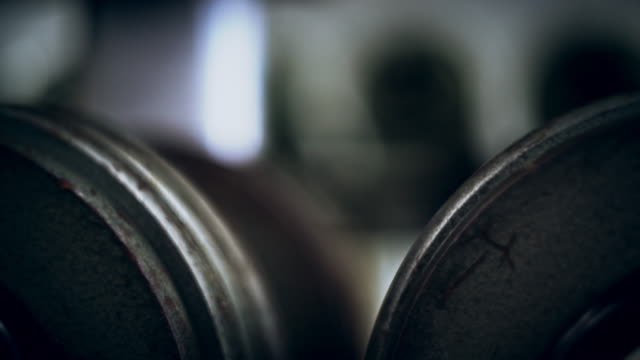 Dumbbells sports and fitness weight training equipment video