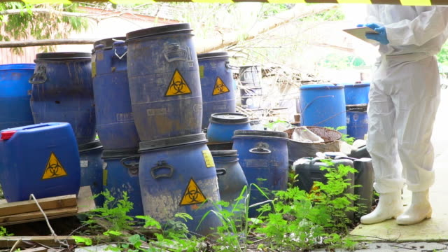 Dump of toxic substances video