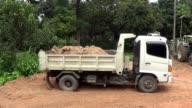 Dump truck dumping video